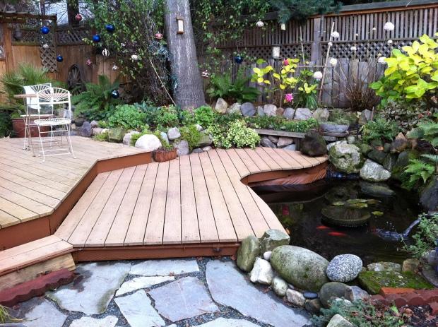wood + stone patio
