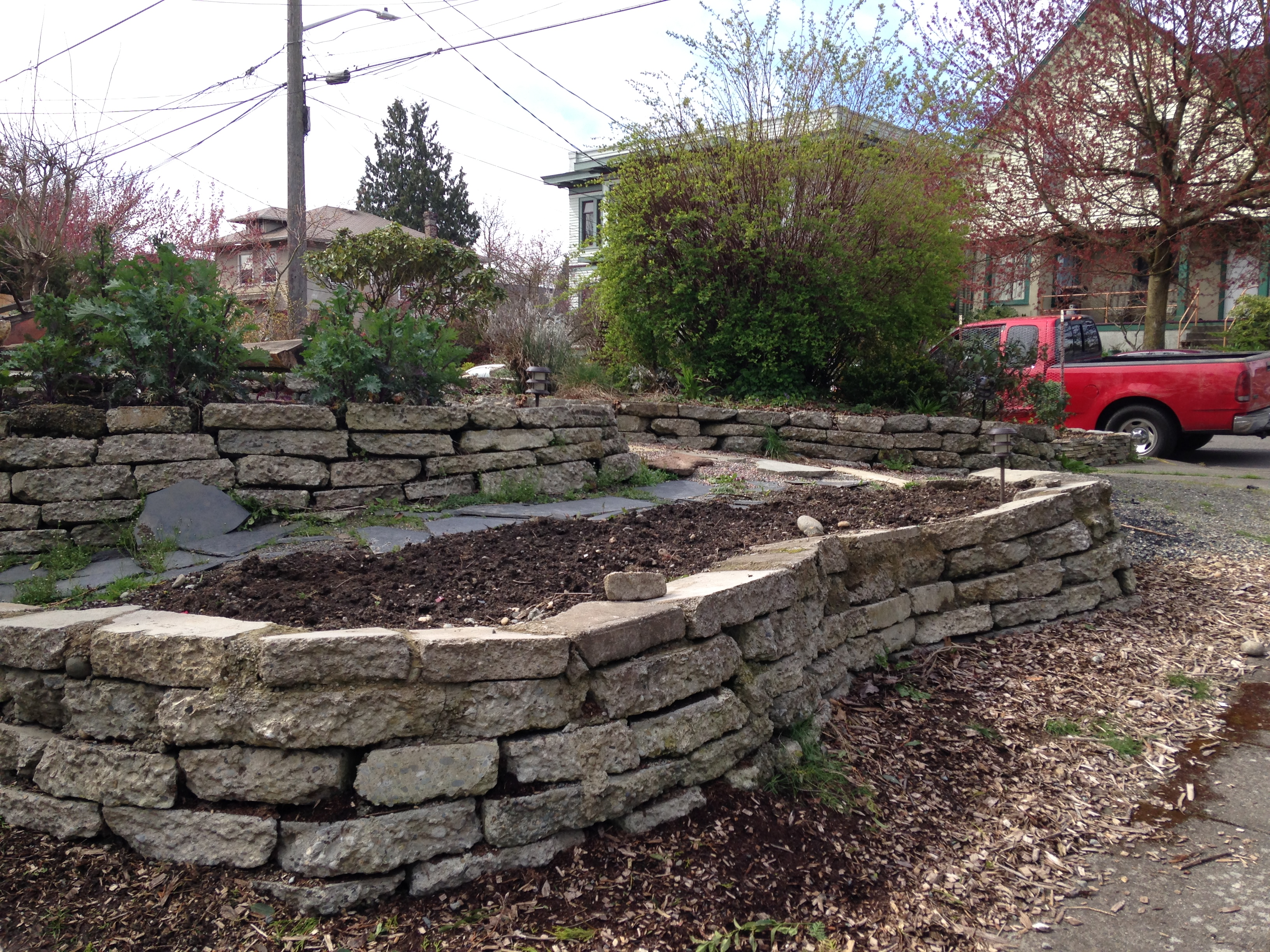 Raised Bed And Retaining Walls