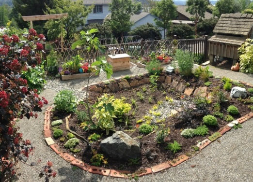 This rain garden is an amazing functional centerpiece to this backyard.